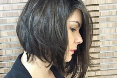 Messy A line Bob Hair Style Office Hairstyles Ideas 2016